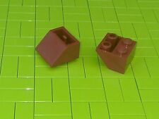Nuevo LEGO - 10 X 2x2 marrón rojizo invertida pendiente ladrillo 45 3660 -
