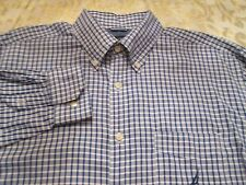NAUTICA BLUE & WHITE CHECK SHIRT WITH LOGO SIZE L DRESS/CASUAL