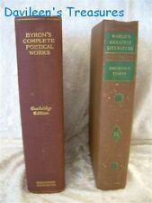 "Vintage Books: ""Byron's Complete Poetical Works"" (1905), ""Emerson's Essays"" 1936"
