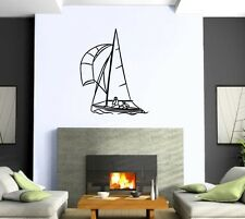 Wall Sticker Vinyl Decal Ship Sailboat Ocean Sea Swimming Nursery ig1247