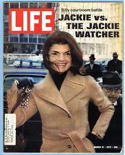 LIFE MAGAZINE, MARCH 31, 1972 - JACKIE KENNEDY ONASSIS