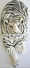 NEW      Intarsia wood pattern:WHITE TIGER STALKING (Original)
