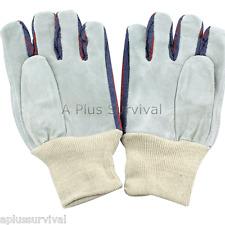 Lot Of 10 Leather Palmed Work Gloves