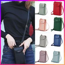 Women Mobile Phone Bag PU Leather Crossbody Mini Purse Wallet Shoulder Pouch UK