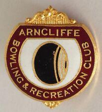 Arncliffe Bowling Club Badge Rare Vintage (K5)