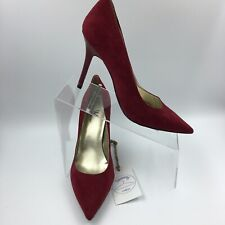 Worthington Women's Solid Red Pointed Toes Stiletto Heels Pumps Size 9.5M