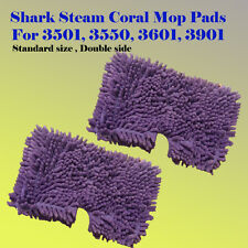 2x Coral Steam Mop Replacement Microfiber Pad For Shark S3501 S3601 S3901 S3550