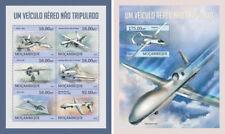 Drones Firebird-9 Planes Flugzeuge Aviation Transport Mozambique MNH stamp set