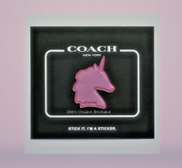 "COACH ""PINK UNICORN"" HANDBAG STICKER"