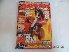 MOTO ET MOTARDS  N°55 09/2002 DUCATI 999 RED DEVIL HONDA 600 CBR-FS       K30