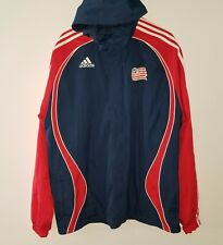 Adidas World Cup USA Soccer Hooded Jacket Red Blue XL