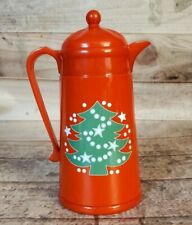 Waechtersbach Red Christmas Tree Thermos Plastic Pitcher Carafe by AK Das EUC