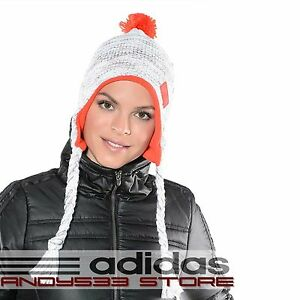 adidas Performance CLIMAWARM™ Women Beanie Hat Knit Fleece Cable Peru Tassled
