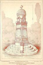 "TONGEREN TONGRES "" MONUMENT COMMEMORATIF "" ARCHITECTE FOUCART ILLUSTRATION 1920"