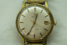 VINTAGE OMEGA SEAMASTER AUTOMATIC MENS WATCH 10K GOLD FILLED ROUND DATE TIME