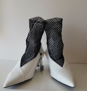 Zara Special Edition White Ankle Boots BNWT  SIZE UK 7 EU 40