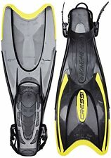 Cressi Palau Palmes Noir/Jaune UK 9.5-12.5 Confortable Ouvert Talon/Sangle nageoires