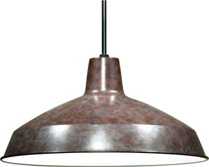 1-Light Hanging Mounted Outdoor Light Fixture in Old Bronze Finish