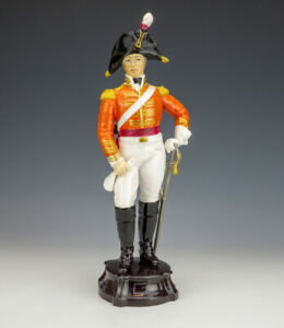 Royal Worcester Porcelain - Officer Of The Third Dragoon Guards Soldier Figure