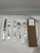New Pottery Barn Maxfield Tumbled 20-Piece Flatware Set Silver Plated Serves 4