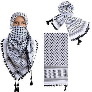 Keffiyeh Scarf Palestinian Thunderhead Shemagh Arab Military Desert Cotton Shawl
