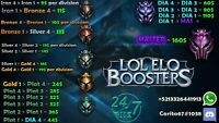 league of legends elo boosting any region LAN,NA,Disc0r for details and prices.