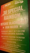 "Iron Maiden & .38 Special & Rainbow 5/18 PromoPoster14""x22"" WHILE SUPPLIES LAST!"