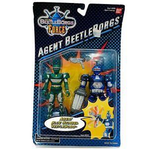 RARE vtg Bandai Beetleborgs Agent Blue Stinger Action Figure New + green hunter