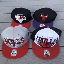 Lot 4 Chicago Bulls Snapback Hat NWT New Era 59Fifty Mitchell Ness NBA One Size