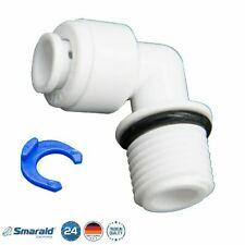 "L - Steckverbinder 1/4"" - 1/4"" AG m. O-Ring 6,5 mm für Wasserfilter Umkehrosmose"