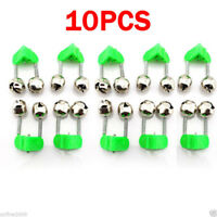 10PC Outdoor Fishing Bite Alarms Fishing Rod Stalk Bells Clamp Tip ABS Easy Fish