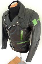 "✰VINTAGE KAWASAKI Leather Motorcycle JACKET CLASSIC GREEN ""K"" NINJA!  REAL DEAL"