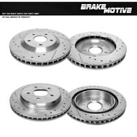 For Cadillac Chevy Corvette C5 Front & Rear Drill And Slot Brake Rotors