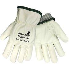 Premium Leather Cut Resistant Work Gloves Full Kevlar Lining ASTM Level 4 Medium