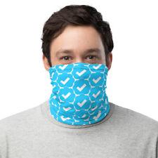 Twitter Verified Blue Check Neck Gaiter Face Mask - Checkmark
