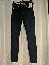 """SEVEN 7 FOR ALL MANKIND Super Skinny """"The Skinny"""" Size W28 Rinse Blue RRP £170"""
