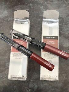 2x Revlon Colorstay Overtime 16h Lipstick 370 Everlasting Rum & 380Always Sienna
