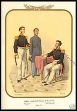 MILITARIA MARINA - LITOGRAFIA 1855 REALE MARINA