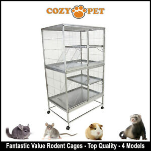 Cozy Pet Rodent Cage for Rat, Ferret, Chinchilla, Degu or other Small Pets RC03