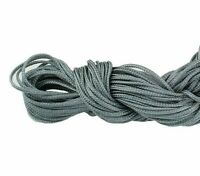 30 Meter Makramee Garn Nylonfäden Kordel 1mm Shamballa Band Grau C120