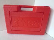 "1997 K'Nex Red Plastic Storage Carrying Case W Ith Handle 14"" x 10"" x 4"" Fliptop"