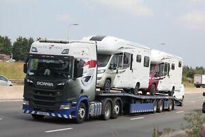 Colour photograph truck photo AUTO TRAIL SCANIA PO68XZT