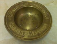 Vintage brass Carpene Malvolti wine bottle holder tray.