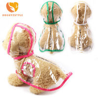 Transparent Pet Rain Coat for Dogs Cat Jacket Cute Casual Waterproof Dog Clothes