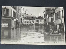 CPA CARTE POSTALE FRANCE PUTEAUX CARREFOUR MAGENTA INONDATIONS SEINE 1910