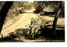 Boy w/ Water-Road-Laredo-Tamazunchale-Mexico-RPPC-Real Photo Vintage Postcard