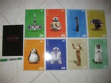 STAR WARS THE LAST JEDI Set of 9 Large Promo Topps Trading Cards Inc Title Card
