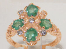 Emerald Rose Gold Engagement Fine Rings