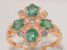 Emerald Rose Gold Fine Rings