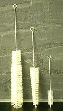 3er Set Flaschenbürste - Tüllenbürste - Schlauchbürste